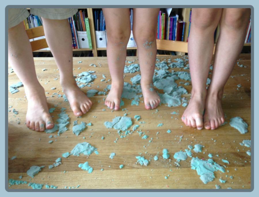 feet in moon sand