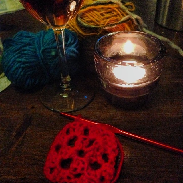 crochet and wine